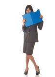 Mulher de negócios triguenha bonita Fotografia de Stock