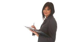 Mulher de negócios triguenha bonita Fotos de Stock Royalty Free
