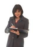 Mulher de negócios triguenha bonita Imagens de Stock