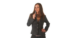 Mulher de negócios triguenha bonita Imagem de Stock Royalty Free