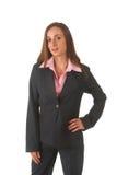 Mulher de negócios triguenha bonita imagem de stock