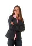 Mulher de negócios triguenha bonita fotos de stock