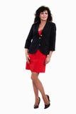 Mulher de negócios triguenha latino-americano dos anos quarenta atrativos Fotografia de Stock Royalty Free