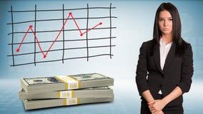 Mulher de negócios virada Imagem de Stock