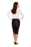 Mulher de negócios, vista traseira Fotos de Stock Royalty Free