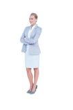 Mulher de negócios Walking Fotos de Stock Royalty Free