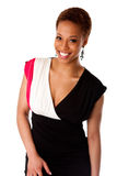 Mulher de negócio africana de sorriso bonita Foto de Stock Royalty Free