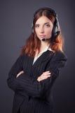Mulher de negócio bonita Fotos de Stock Royalty Free