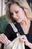 Mulher de negócio com bolsa Fotografia de Stock