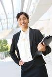 Mulher de negócio do americano africano Imagens de Stock