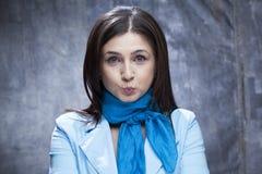 Mulher de negócio engraçado Imagem de Stock Royalty Free
