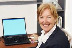 Mulher de negócio feliz mim Fotos de Stock Royalty Free
