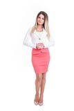 Mulher de negócio forte e bem sucedida bonita Fotos de Stock Royalty Free