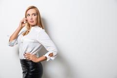 Mulher de negócio sedutor Imagem de Stock