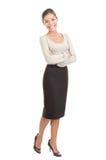 Mulher de negócios asiática nova ocasional Fotografia de Stock Royalty Free