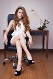 Mulher de negócios bonita nova Fotos de Stock Royalty Free
