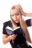 Mulher de negócios choc Fotos de Stock