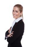 Mulher de negócios de sorriso positiva glamoroso Fotos de Stock