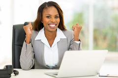 Mulher de negócios do americano africano Imagem de Stock