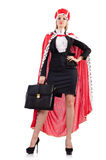 Mulher de negócios no terno real Imagens de Stock Royalty Free