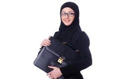 Mulher de negócios nova isolada Imagem de Stock Royalty Free