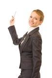 Mulher de negócios ou professor Fotografia de Stock Royalty Free