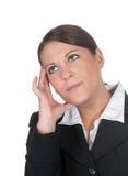 Mulher de negócios pensativa Foto de Stock Royalty Free