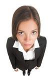 Mulher de negócios triste furada isolada Foto de Stock Royalty Free