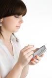 Mulher de PDA Foto de Stock Royalty Free