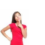 Mulher de pensamento Fotos de Stock Royalty Free