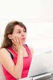 Mulher de pensamento Foto de Stock