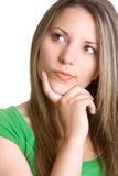 Mulher de pensamento bonita Imagem de Stock Royalty Free