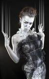Mulher de prata fantástica imagem de stock royalty free