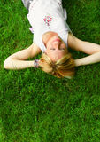 Mulher de relaxamento imagens de stock royalty free