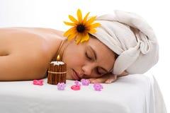 Mulher de relaxamento Fotos de Stock