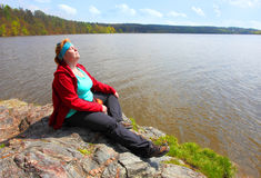 Mulher de relaxamento Imagem de Stock