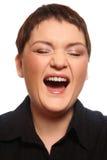 Mulher de riso imagens de stock royalty free