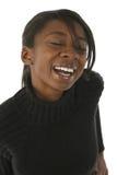Mulher de riso imagem de stock