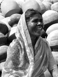 Mulher de riso Imagens de Stock