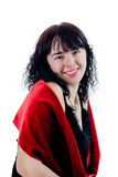 Mulher de riso fotografia de stock