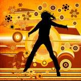 Mulher de salto ilustração stock