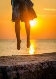 Mulher de salto Foto de Stock