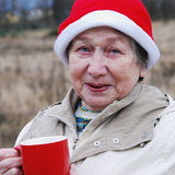 Mulher de Santa Fotografia de Stock Royalty Free