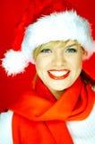 Mulher de Santa Foto de Stock Royalty Free