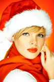 Mulher de Santa Imagem de Stock Royalty Free