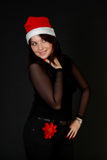 Mulher de Santa Fotografia de Stock