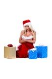 Mulher de Santa do Natal Imagens de Stock Royalty Free