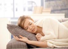 Mulher de sono foto de stock royalty free