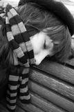 Mulher de sono Fotografia de Stock Royalty Free