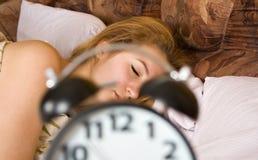 Mulher de sono Fotografia de Stock